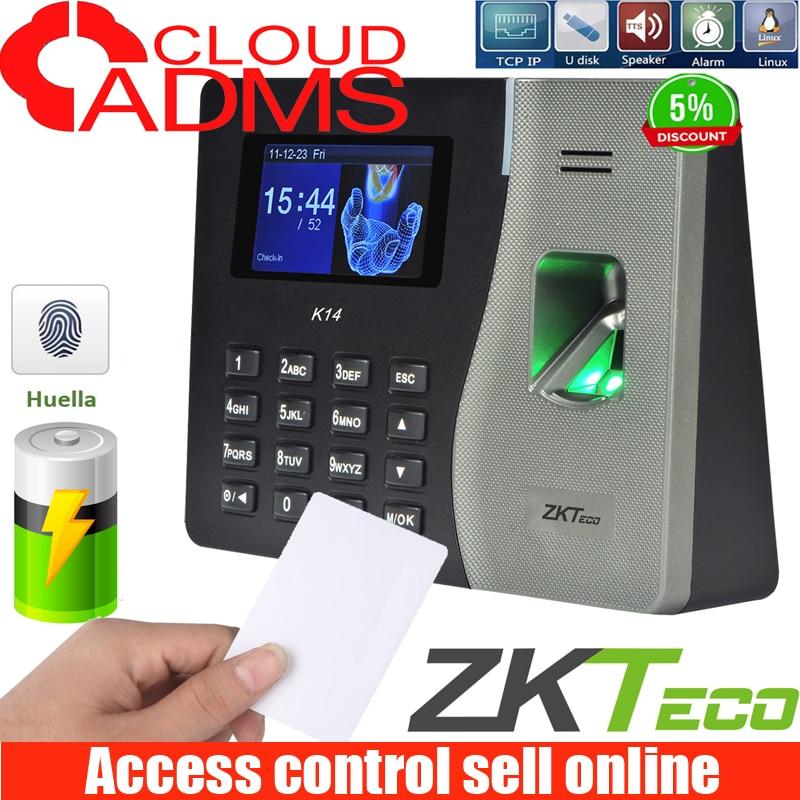 ZKteco  New Arrived K14 Biometric Fingerprint Recognition Time Attendance 2000 Capacity Fingerprint Recognition Time Clock