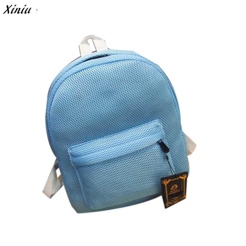 e7a1ea0e6d1a Detail Feedback Questions about Fashion Girls Backpack Women Net Yarn Grid  Shoulder Backpack shipping Bag good quality rucksack women mochilas mujer  2019 ...