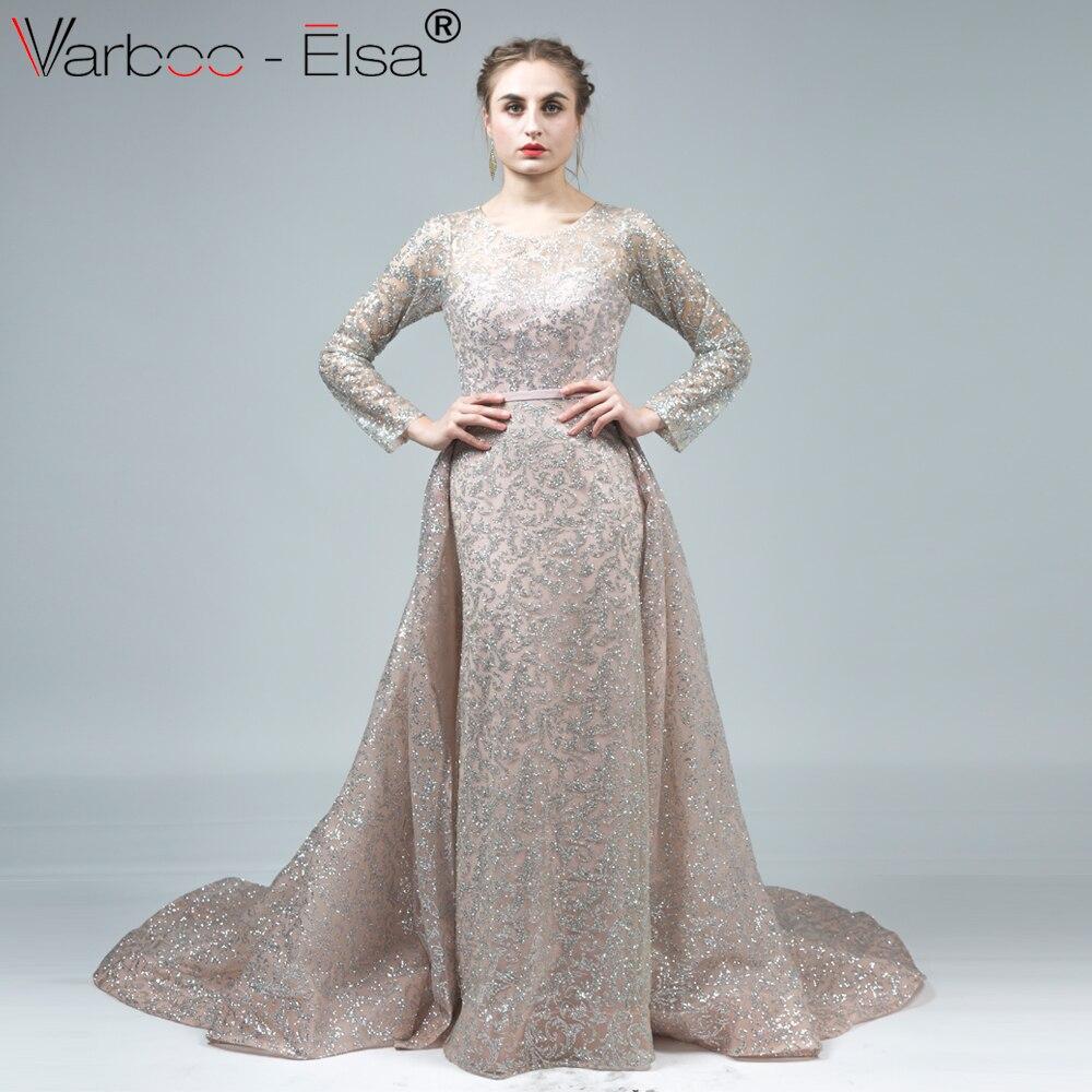 f62e87552f VARBOO ELSA Vestido de Festa Longo Black Sparkly Evening Dress Long Train Formal  Gown Mermaid Party Dress Robe De Soiree Longue