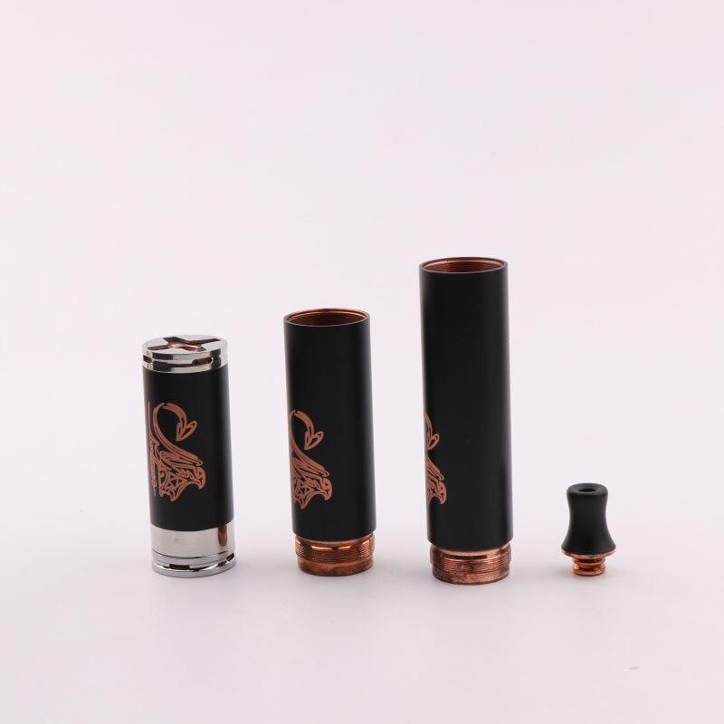 Stingray Rame Nero Mech Meccanica Mod Vape Kit 3 Tubi w/Drip Tip per 18650 Batteria 510 filo Hight qualità