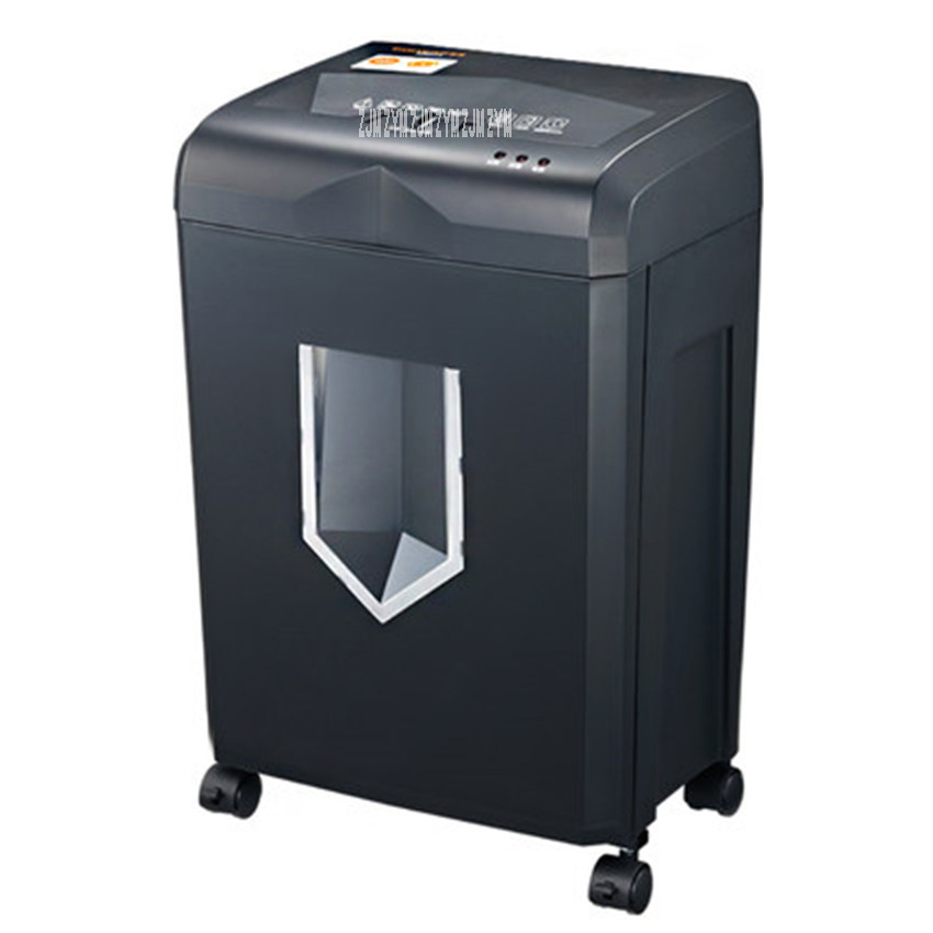 318 220V/50hz cross-cut paper / credit card shredder draw-out 18 liter basket overload capability protect Shredder 150W Power