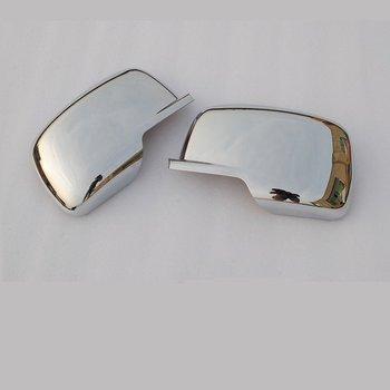 לג 'יפ מצפן 2008-2009 2 יחידות ABS Chrome רכב צד דלת מראה אחורית כיסוי Trim פיתוחים רכב סטיילינג אביזרי רכב