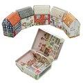 Классический Vintage House Форма Чай Box Контейнер Конфеты Олова Ящик Для Хранения Ювелирных Изделий Подарок Чехол