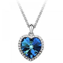 Crystal Heart Of The Ocean Necklace For Sale