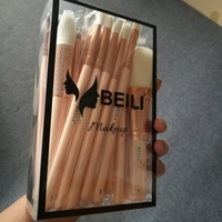 BEILI Pink 22 Pieces Natural Goat Hair Synthetic Wool Fiber Powder Foundation Concealer Blusher Eye Shadow