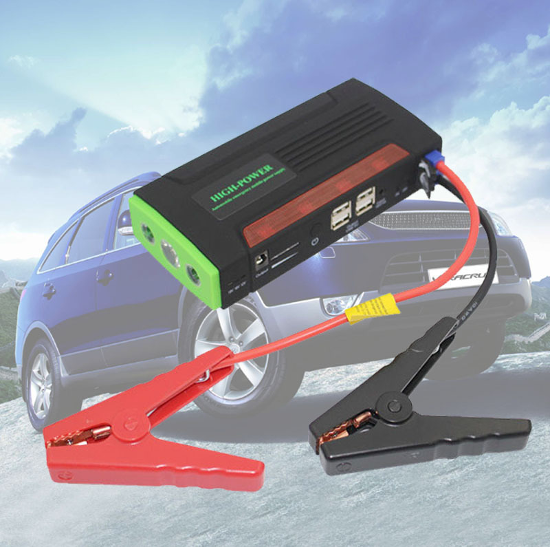 12V Portable Mini Jump Starter Car Jumper Booster Power Battery Charger Mobile Phone Laptop Bank - Bill Auto Parts City store
