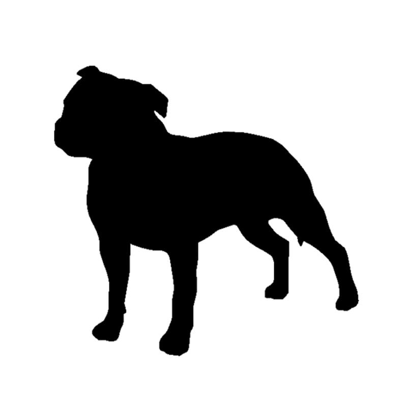 Стафардшырскі бультэр'ер сабака хатняга ўлюбёнца Вінілавая налепка для вінілавых бампер вокны бампер хатняя сцяна
