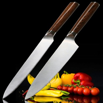 Kitchen Knife Set 2 Pcs Chef Slicing Kitchen Knives German Stainless Steel Knives Sets Chef Tools Professional Cooking Gadgets