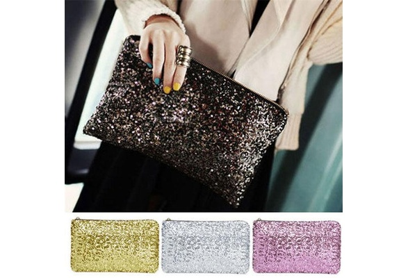 Shining Sequins Handbag Glitter Spangle Clutch Bag for Party Evening New BS88
