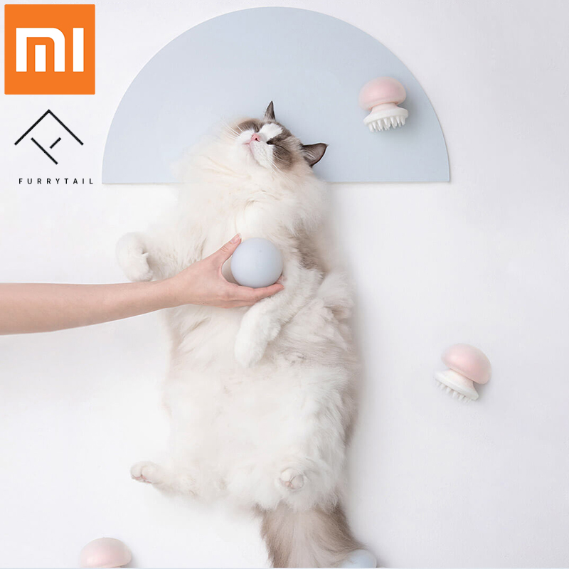 Xiaomi Mijia Furrytail Jellyfish Pet Massager Comb Negative Ion Anti static for Cat hair clean pet Grooming Massager Comb|Smart Remote Control|Consumer Electronics - title=