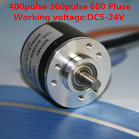 3PCS AB Two Phase Incremental Type Photoelectric Rotary Encoder DC5 24V NPN Voltage Output 400 Pulse