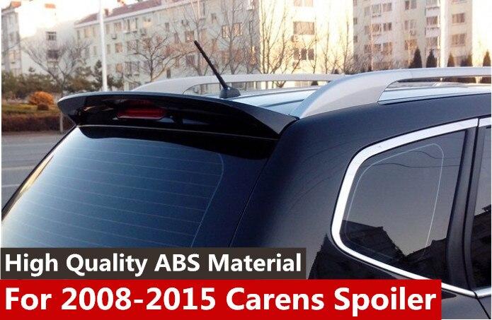 New design For Kia Carens Spoiler ABS Material Car Rear Wing Primer Color Rear Spoiler For Kia Carens Spoiler 2008 2015