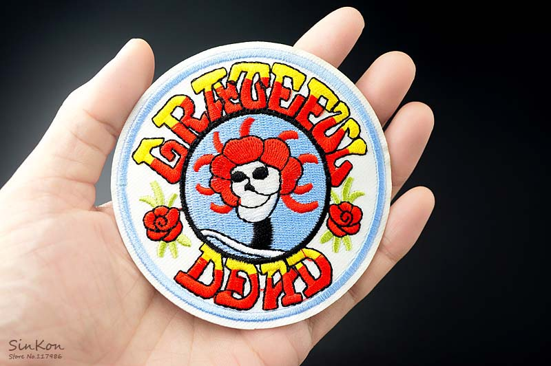 Grateful dead 90x90cm diy patches cloth patch badge embroidered dsc03866 solutioingenieria Gallery