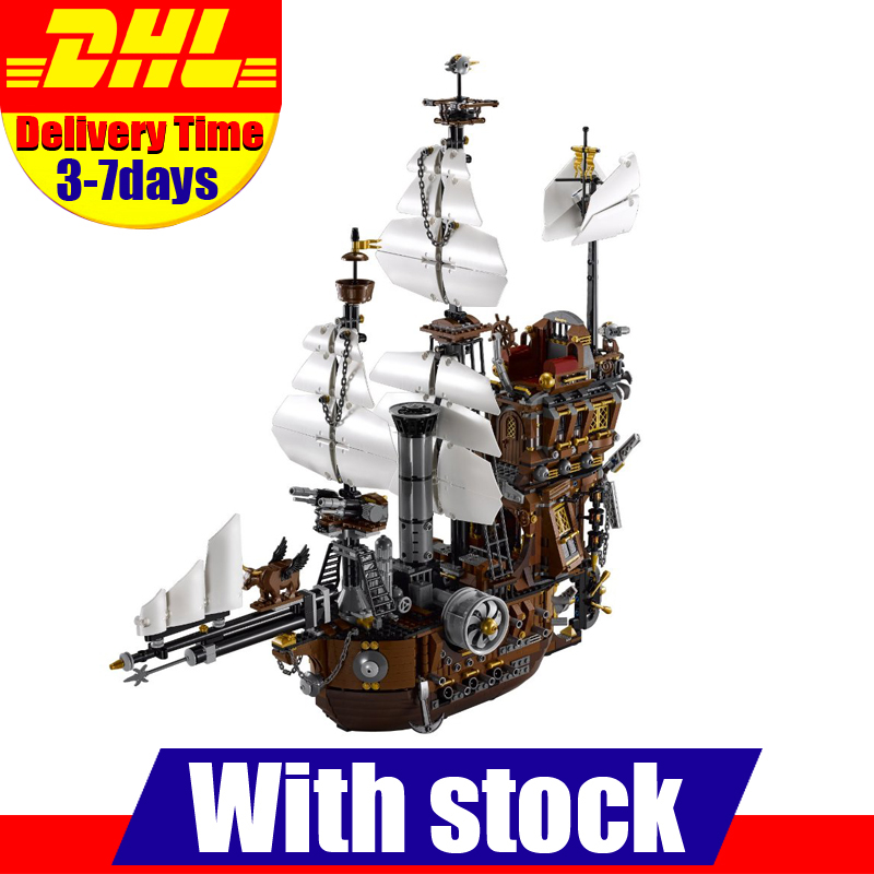LEPIN 16002 Modular Pirate Ship Metal Beard s Sea Cow Building Block Set Bricks Kits Set