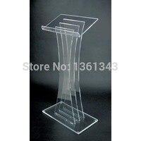 Acrílico claro podio claro acrílico muebles oferta acrílico Lectern diseño moderno claro Perspex acrílico Rostrum Lectern