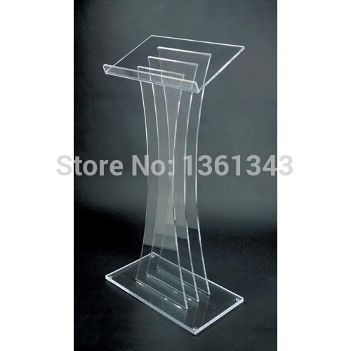 Clear acrylic podium clear acrylic furniture Hot Sell Acrylic Lectern Modern Design Clear Perspex Acrylic Rostrum Lectern clear