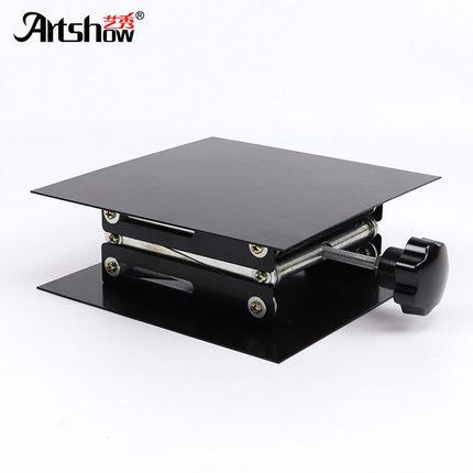 Table élévatrice pour laboratoire utiliser des matériaux de fer de contrôle manuel 200mm * 200mm