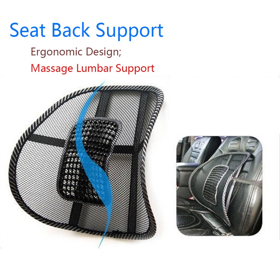 Back Support Massage Cushion Mesh Relief Lumbar Brace Car Truck 6
