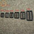 10 piezas de Nylon/POM hebilla 15mm/20mm/25mm/32mm/38mm /50mm hebillas ajustables Dual/Tri hebillas para cinturón maleta Accesorios