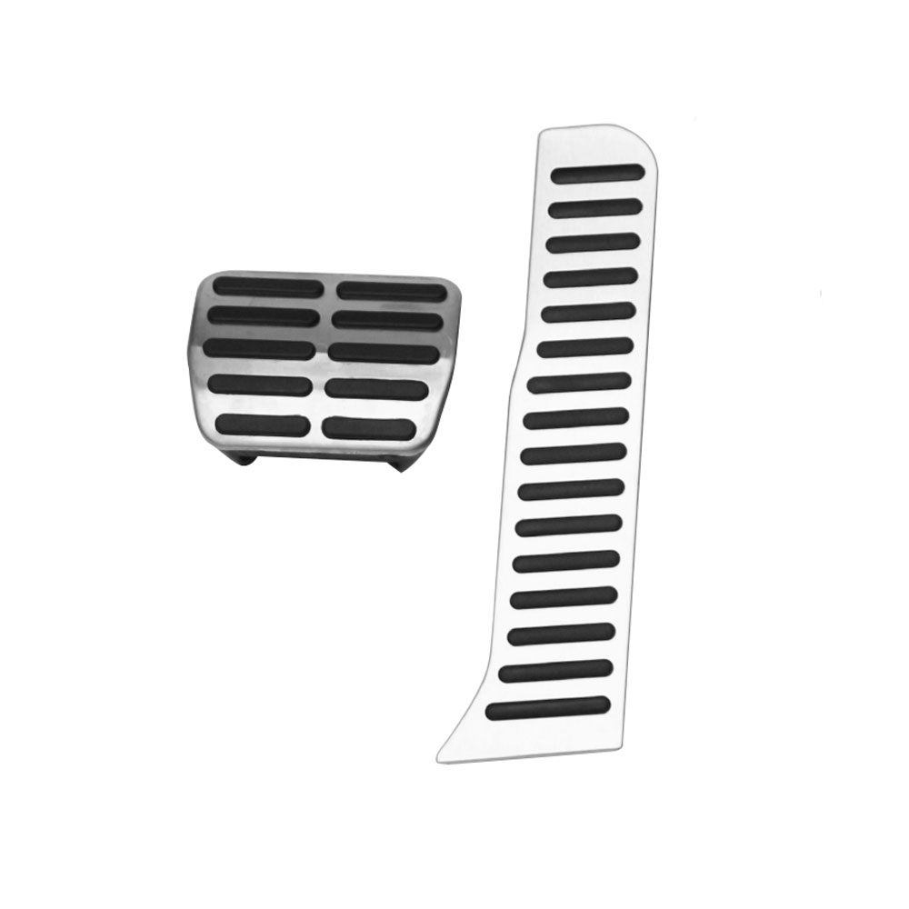 Zlord Stainless Steel Car Gas Pedal Brake Pedals Cover For Volkswagen VW Caddy 2004 - 2015 Kit Parts Accessories