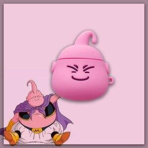 Image 1 - Airpods 1 2 Schattige Japanse Cartoon Dragon Ball Majin Buu Oortelefoon Siliconen Cover Voor Apple Draadloze Bluetooth Headset Gevallen Funda