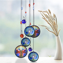 """H&D Wind Chimes Outdoor Decor,18"""" Metal Memorial Windchimes,Tree of Life Sympathy Wind Chimes Gift for Garden Home Yard Hanging"""