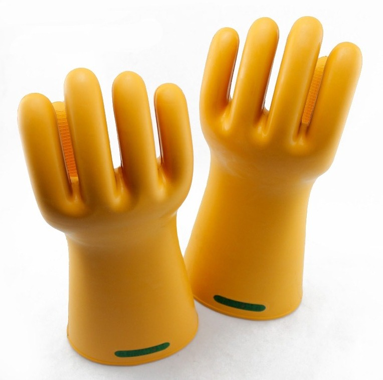 35KV High Voltage A.C Insulating Work Gloves Natural Rubber Electrical Insulation Gloves