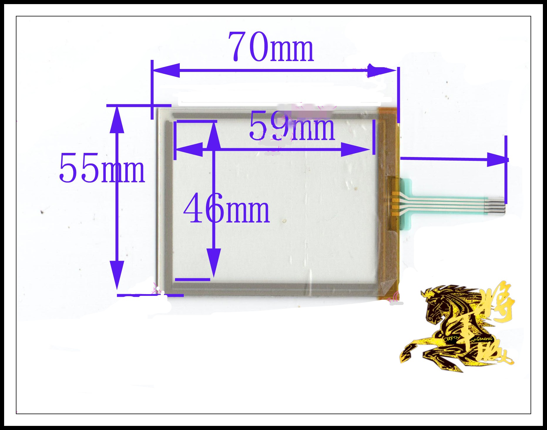 GENCTY For 3.5-inch four-wire resistive touch screen 70 * 55 W-Y