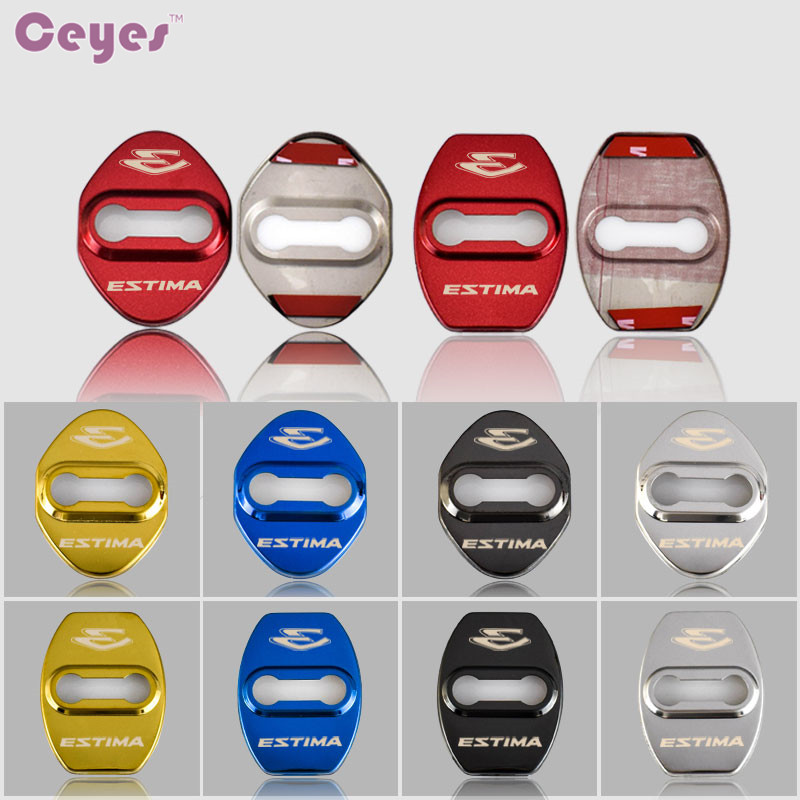 Ceyes Car Styling Auto Door Lock Buckle Cover Case For Toyota Estima Esquire Corolla Avensis Noah Wish Car-Styling Accessories