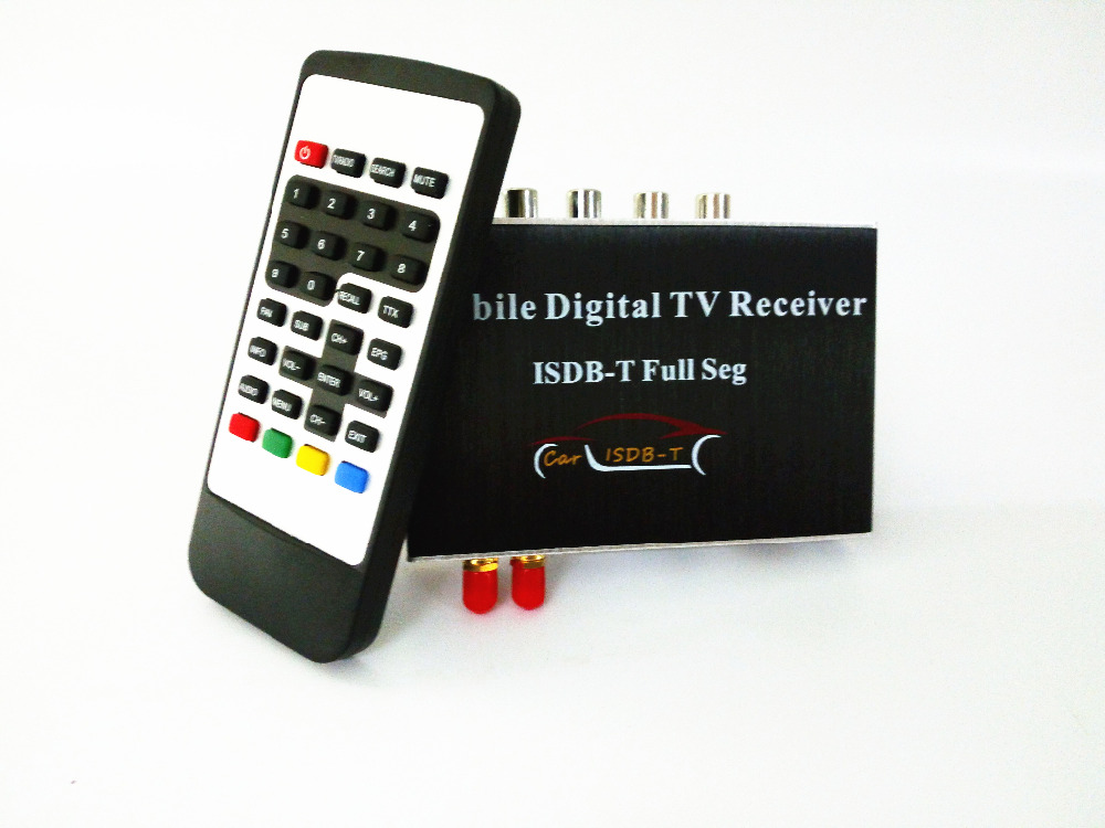 Dual Tuner ISDB-T Full Seg Car Digital TV Receiver 190KM/H for Philippines Japan South America (Brazil Chile Argentina Peru...) car one seg receiver for usb isdb t brazil digital tv receiver android isdb t digital car tuner four way single antenna m 288x