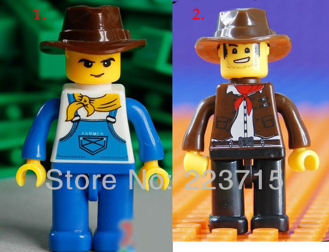 Free Shipping!*Cowboy Minifigs* DIY Enlighten Block Bricks,Compatible With Assembles Particles