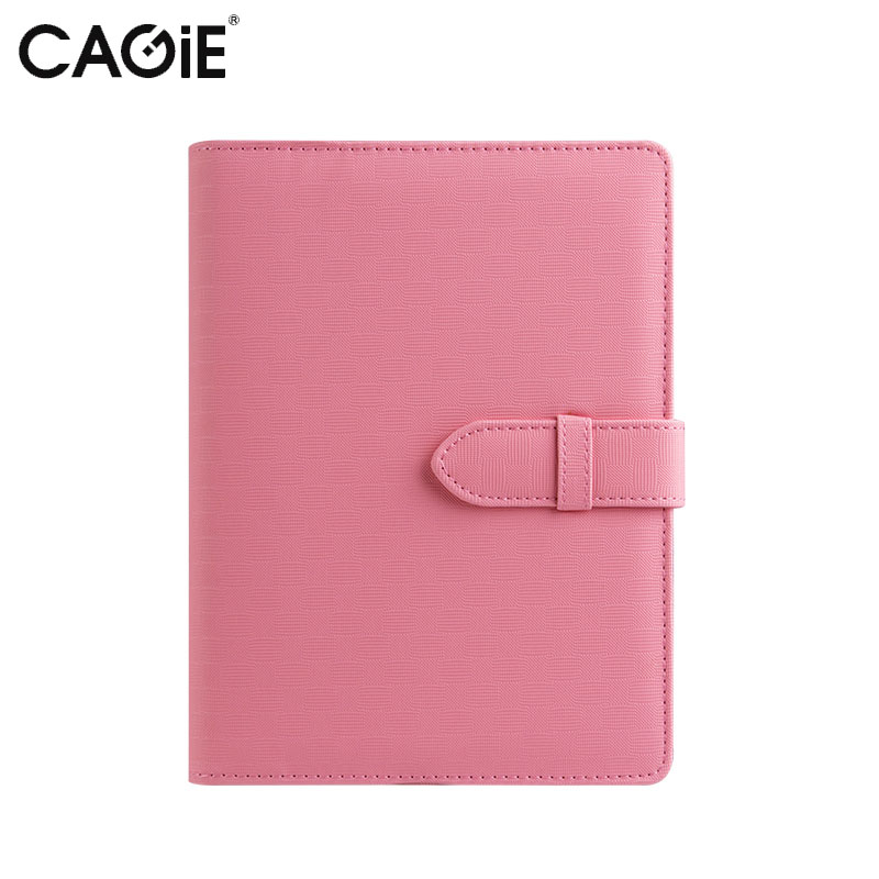 Cagie Fashion Creative Pu Leather Cover Journal Notebook Business Office Candy Colors Spiral Planner Organizer Diary Notebooks a4 leather discolor manager file folder restaurant menu cover custom portfolio folders office portable pu document report cover