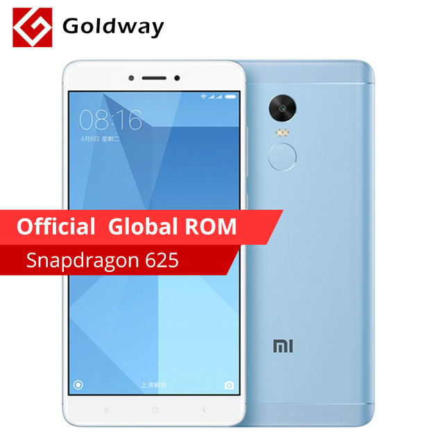 """Оригинальный Xiaomi Redmi Note 4x4 ГБ Оперативная память 64 ГБ Встроенная память мобильного телефона Snapdragon 625 Octa Core 5.5"""" FHD отпечатков пальцев ID 4100 мАч Батарея"""