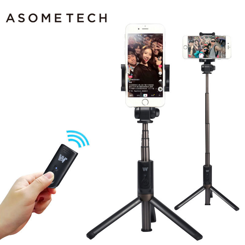$28.92 3 in 1 Handheld Mini Tripod Phone Selfie Stick Extendable Foldable Monopod Bluetooth Remote Control for iPhone 8 X 7 Plus Xiaomi