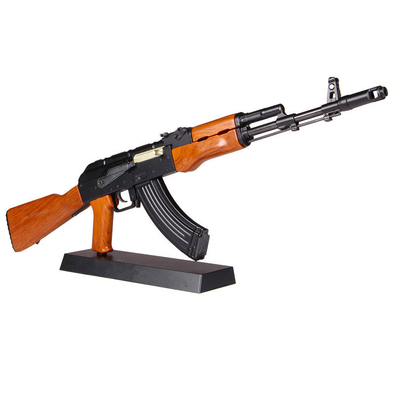 1:3.5 AK47 Gun Model Metal Toy Gun Assemble Model Toy DIY Block  For Collection Children Weapon Gift Kids Guns Can Not Shoot