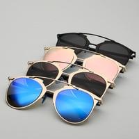 Classic Rose Gold Mirror Sunglasses Fashion Brand Designer Women Men UV400 Real Sun Glasses Female Eyewear Ladies