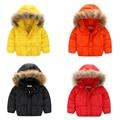 Fashion Kids Girls Boys Coats Warm Winter Hooded Infant Overcoat Kids Down Snowsuit Toddler Jackets Tops