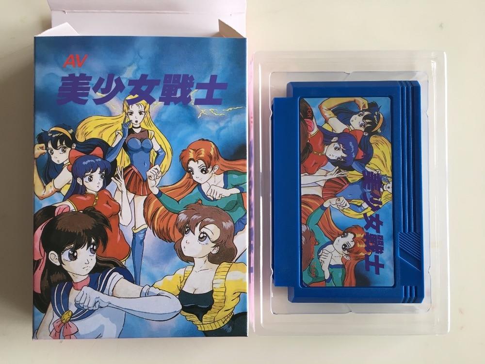 8bit game card AV Bishoujo Senshi Girl Fighting Japan Version box cartridge ONLY