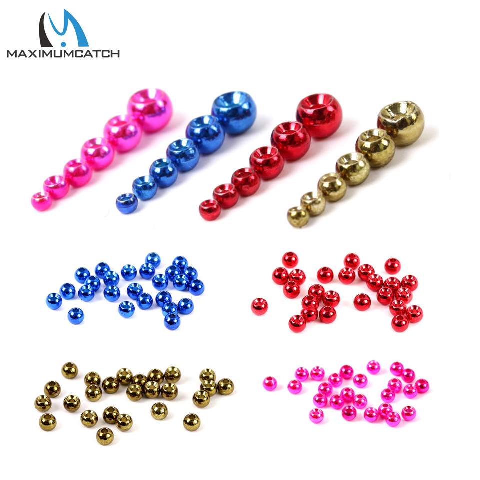 Maximumcatch Tungsten Fly Tying Beads Nymph Ball Beads Fly fishing Materials tungsten alloy steel woodworking router bit buddha beads ball knife beads tools fresas para cnc freze ucu wooden beads drill