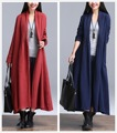 2016 NOVA Primavera Outono de Algodão de linho de alta qualidade Trench Coat Longa Outwear Casacos Abrir Ponto das Mulheres Magras Blusão Mulheres casaco
