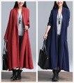 2016 NUEVA Primavera Otoño ropa de Algodón de alta calidad Gabardina Larga Outwear Las Mujeres Delgadas Capas de Abrir Stitch Mujeres Rompevientos escudo