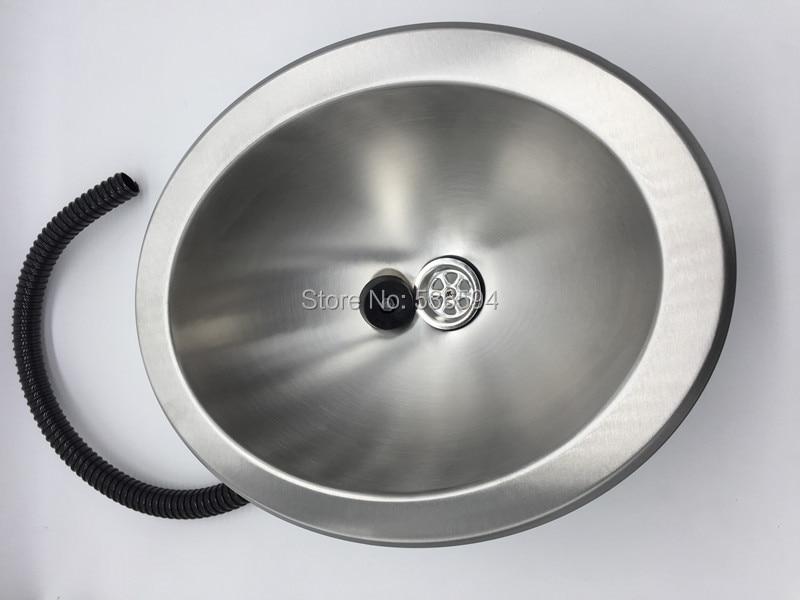 Rv Wash Basin Stainless Steel Sink Bright Stainless Steel Ellipse Caravan  Camper With Plug Hand Wash Basin RV Kitchen Sink