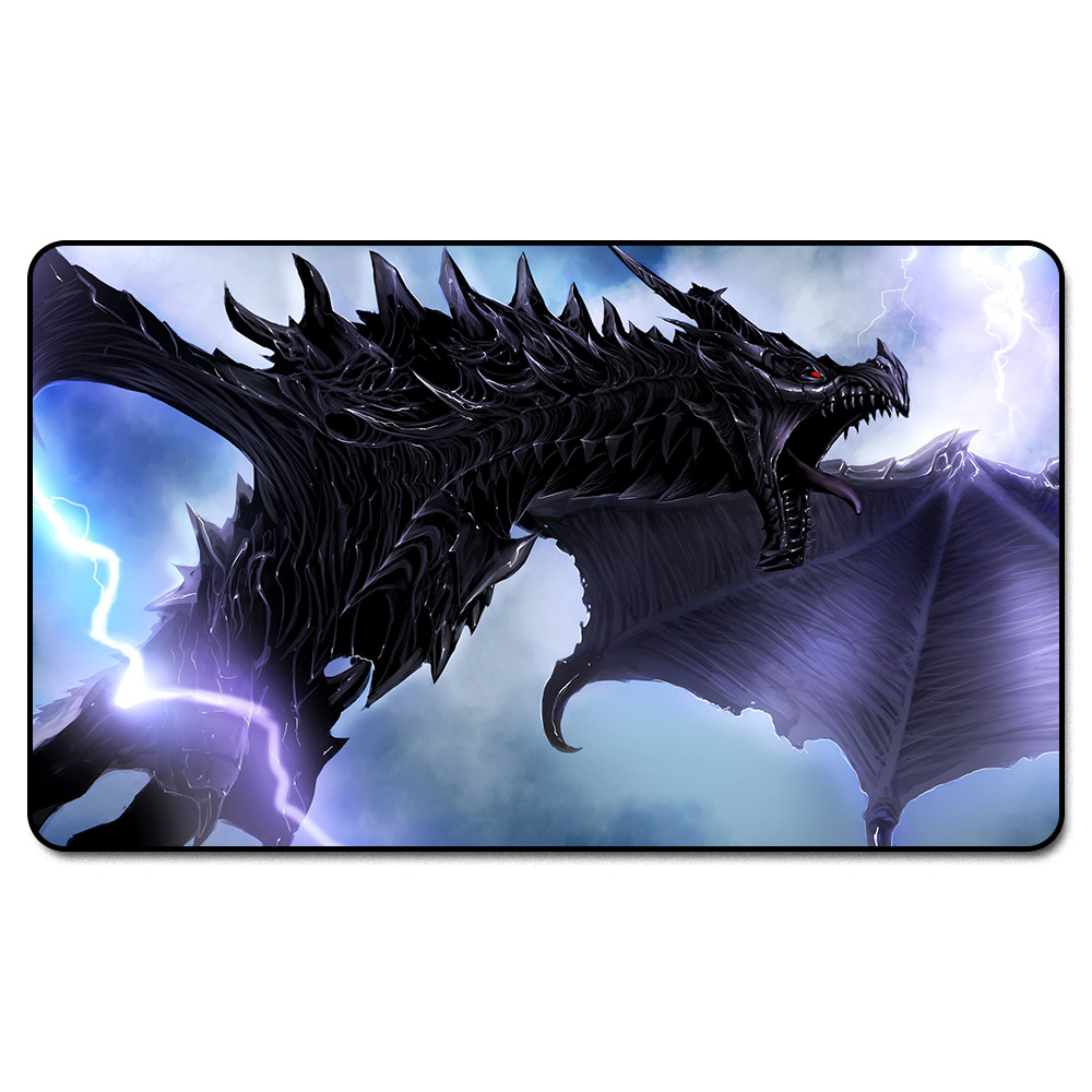 ( Alduin)Many Choice Magic Game Custom Playmat,Board Games MGT Play Mat,Custom Big Mousepad with Free Bag