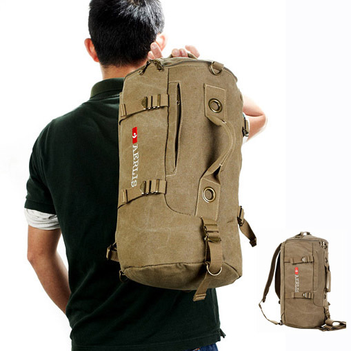 f5ebd94b7c Durable canvas travel backpack mochilas for men Dual function sport bag  shoulder bags bolsas Free shipping-in Backpacks from Luggage   Bags on ...