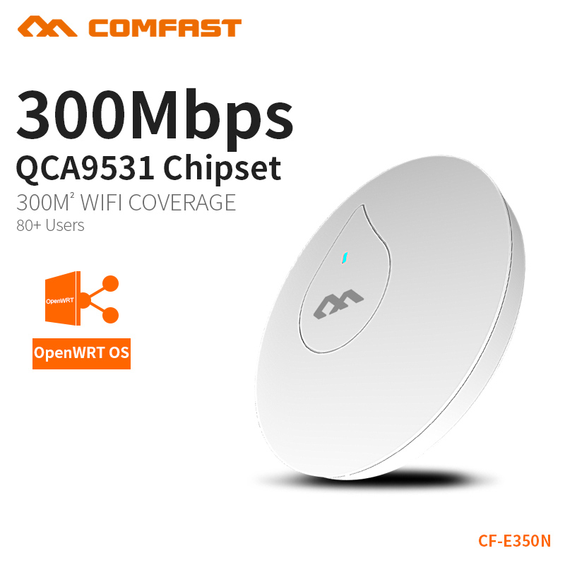 2PCS Powerful 300Mbs Wifi Router Ceiling AP Wifi Extender Include 48V POE Support OpenWRT Built In PA Wide Coverage CF-E350N цена