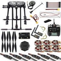 DIY Drone Frame Kit APM2.8 Flight Control M8N GPS with Flysky TH9X Remote Control 3DR Telemetry Motor ESC for RC FPV Hexacopter