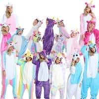 Pajama Sets Unicorn Kigurumi Onesie Men Women Adult Animal Unicorn Pajamas Kids Girl Boys Jumpsuit Sleepwear