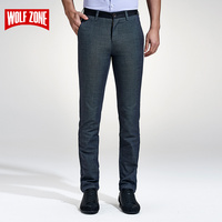 Limited Brand Classic Casual Men Pants Fashion Slim Fit Dress Flat Suit Mens Trousers Formal Business