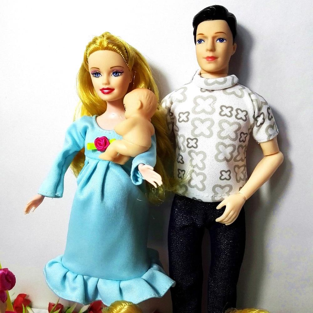 Fashion Doll Leker Family 6 People Dolls Suits 1Mom / 1Dad / 3 Little - Dukker og tilbehør - Bilde 3