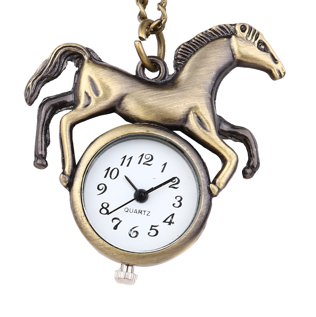 Retro Personality Round Dial Quartz Pocket Watch Animal Pocket Watch Relogio Masculino Watch Men Reloj Hombre Bayan Kol Saati